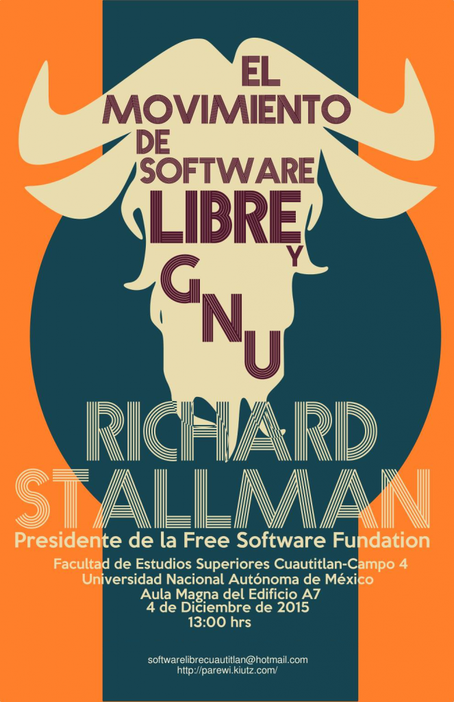 Richard Stallman en la FES Cuautitlán